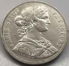 Frankfurt Stadt Taler 1865 Vereinstaler Silber