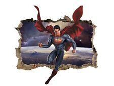 Superman Wall Decal 3D Sticker Vinyl Room Bedroom