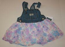 New OshKosh Girls Jumper Dress Overalls Soft Tulle Floral...