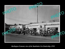 OLD POSTCARD SIZE PHOTO OF BURLINGTON VERMONT THE STUDEBAKER CAR STORE c1950