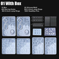 248X Silicone Earring Pendant Mold Jewelry Resin Mould Kit Set Casting Craft