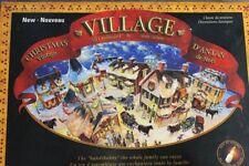 Christmas Vintage Village 7 Buildings Accessories Lights Fold Up Cardboard NEW