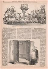 Herring'S Patent Fire-Proof Safe, At Crystal Palace antique engraving 1853