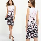 Summer Women Sleeveless Floral Bodycon Casual Party Evening Cocktail Mini Dress