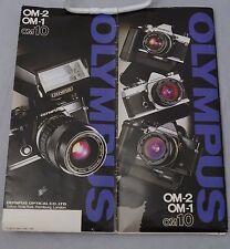 Olympus Om-10, Om-1, Om-2 cameras customer sales brochure 1980
