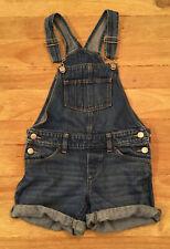 Old Navy Girls Size 8 (M) Denim Jean Bib Overall Shorts Shortalls Medium Wash