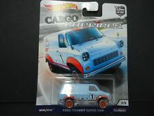 Hot Wheels Ford Transit Super Van Gulf Cargo Carriers FPY86-956B 1/64