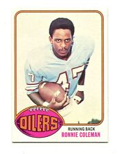 1976 Topps #22 Ronnie Coleman Houston Oilers