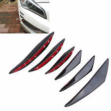 6x Universal Rubber Front Bumper Fin Body Decor Spoiler Canards Car Splitter Hot