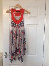 LADIES 'TEDBAKER' BRAND NEW MULTI STRIPE/FLORAL TUNIC VEST TOP. SIZE 8/TED SIZE1