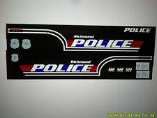 Richmond Indiana Police Vehicle  Decals 1:24  Custom