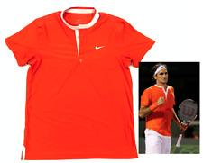 Mens Nike Roger Federer Nike RF Tennis Polo Henley Shirt 2010 Miami Open Medium