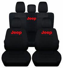 2013-2017JEEP WRANGLER 4DR CAR SEAT COVERS front&back ,CHOOSE YOUR COLOR!!!