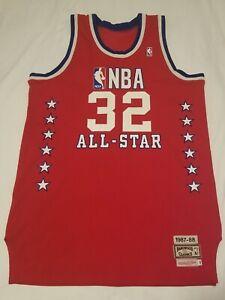 RARE AUTHENTIC Mitchell & Ness Magic Johnson #32 1987-88 NBA All-Star Jersey 46