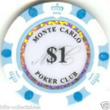 9 pc 9 colors 2008 Monte Carlo 1 to10,000 poker chip sample #151