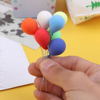 8Pcs/set 1/12 Dollhouse Miniature clay ornaments colorful balloons children g Nd