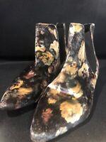 Velvet Topshop Ankle Boots Size 37 Vintage Style