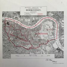 Bermondsey London 1917 Original Boundary Commission Map
