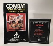 Vintage Atari 2600 Combat CX2601 Cartridge With Instruction Booklet 1980s