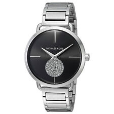 Women's Watch Michael Kors MK3638 Portia Dress Watches Quartz Black Dial Crystal