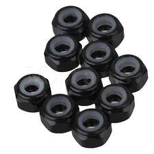 10x Noir M3 Nylon Alliage Aluminium Écrous de Serrage Pour Voiture RC