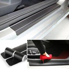 4x5D Carbon Fiber Car Scuff Plate Door Sill Sticker Panel Protector Accessories