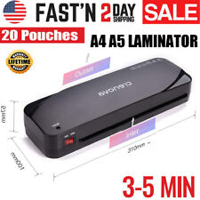 Hot Laminator A230 Laminating Machine A4 for Home Office + Free 20 Pouches