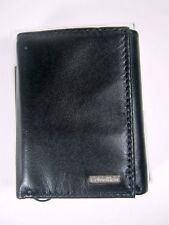 New Calvin Klein CK Mens Trifold Leather Wallet 7976596 Black NIB $45