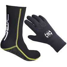3mm Adults Diving Gloves Socks Swimming Fishing Surfing Spearfishing Snorkeling