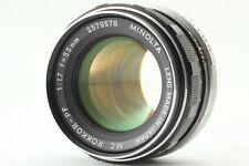【Near Mint】 Minolta MC Rokkor PF 55mm f/1.7 MF Lens for MD From Japan #20007