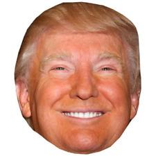 Donald Trump Smiling Celebrity Mask Cardboard Face and Fancy Dress Mask Custom