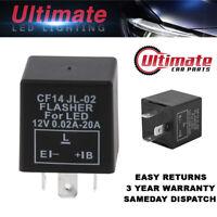 UCP CF14 3 Pin JL-02 Adjustable Flasher Rate LED Indicator Relay Car Bike Turn