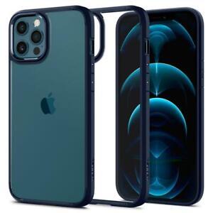 SPIGEN iPhone 12 PRO MAX Handyhülle Hülle Schutz Case Ultra Hybrid Blau Blue