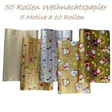 10 Rollen Weihnachtspapier Geschenkpapier 10 St. A 2m X 0 70m