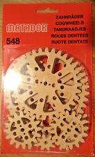 KORBULY MATADOR 548 Zahnräder Zahnraderweiterung Kunststoff Holzbaukasten Gears