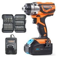 "VonHaus 20V Cordless 1/4"" Impact Driver with Lithium-Ion Battery & Charger Kit"