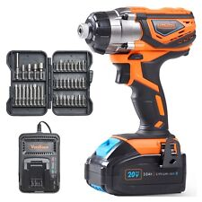"""VonHaus 20V Cordless 1/4"""" Impact Driver with Lithium-Ion Battery & Charger Kit"""