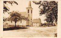 Bridgman Minnesota~Lutheran Church~Little Schoolhouse RPPC c1910