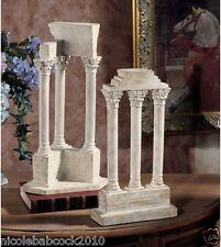 SET OF 2 ANCIENT ROMAN EXCIVATED EUROPEAN COLUMN ARTIFACT SCULPTURES