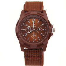 Men's Watch Wristwatch Military Sport Analog Army Quartz Canvas Strap Mens Gift