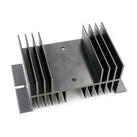 Heat Sink Cooling Heatsink 10*5*7 cm for Solid State Relay SSR Aluminium Black