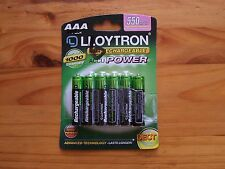 6 x LLOYTRON 550 mAh AAA RECHARGEABLE Ni-MH BATTERIES IDEAL FOR CORDLESS PHONE
