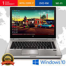 HP WINDOWS 10 LAPTOP ELITEBOOK INTEL CORE i5 4GB 120GB DVDRW WEBCAM WiFi PC