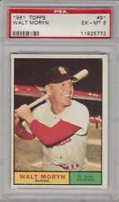 1961 Topps Walt Moryn St Louis Cardinals #91 Baseball Card PSA 6