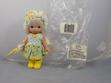 2007 May Precious Moments Monthly Moment Vinyl Doll Yellow Rain Boots Umbrella