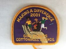 2001 Girl Scouts Cottonboll Council Patch
