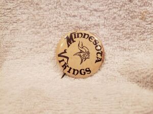 VINTAGE 1960's Minnesota Vikings 1 3/4 Inch Button, VERY RARE!!