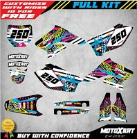 Custom Graphics Full Kit to Fit Suzuki RMZ 250 2004 - 2006 PINNED STYLE stickers