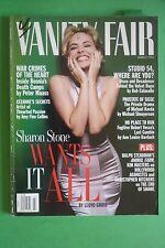 VANITY FAIR MARCH 1996 COVER SHARON STONE BOSNIA'S GROUND ZERO