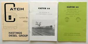British Railway History: HASTINGS DIESELS GROUP DEMU three magazines 1989-1991